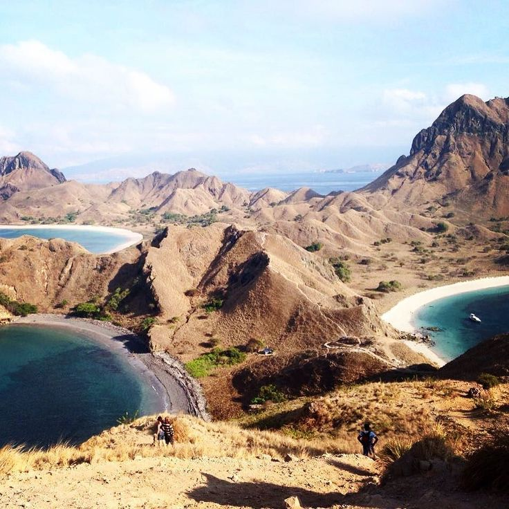 #Flores you pristine beauty! What a shame that we spent only 3 days here and a week in Bali. On our next trip to Indonesia  we will definitely explore this island a lot more! ----------------------- This photo was taken from our hike in Padar Island. From #theviewfromhere you can see three beaches - one with white sand one with black sand and one with pink sand! . . . . . . #naturelove #florestourism #padarisland