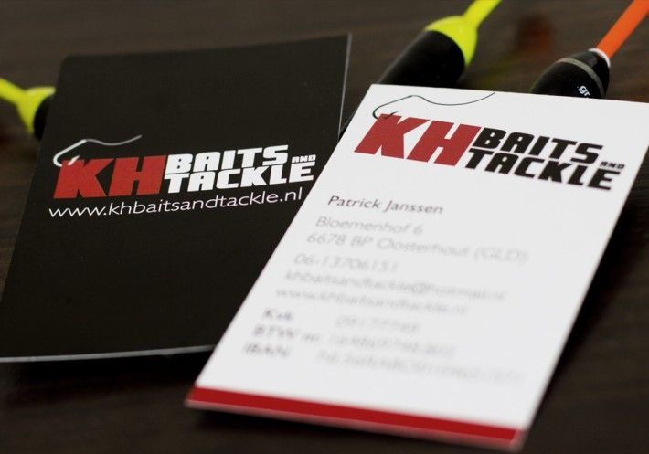 """Business card design """"KH Baits and Tackle"""" by Studio Phunc"""