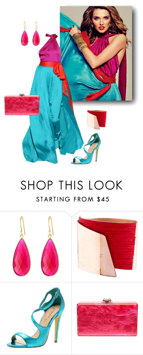 """Untitled #563"" by sensual-spirit on Polyvore featuring Dee Berkley, Salvatore Ferragamo, Louis Vuitton, Siren and Edie Parker"