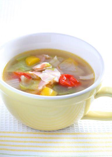 レンジで簡単野菜スープ のレシピ・作り方 │ABCクッキングスタジオの ... そんなとき便利なのが、野菜スープ!レンジで簡単に調理できるので、朝からしっかり野菜がとれます! しっかり朝ごはんでカラダも健康に♪
