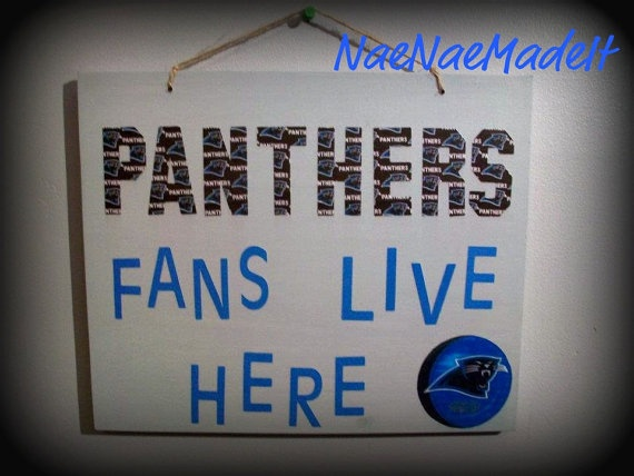 Carolina Panthers Personalized Wall Sign By NaeNaeMadeIt On Etsy, $16.00.  Boys Room IdeasBedroom ...