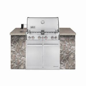 Weber, Summit S-460 4-Burner Built-In Stainless Steel Natural Gas Grill, 7260001 at The Home Depot - Mobile