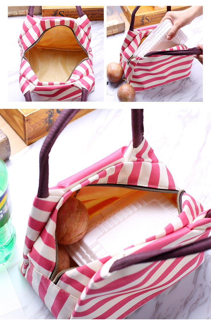 Oxford Lunch Tote Bag Cooler Insulated Handbag Zipper Storage Containers Cheap - NewChic