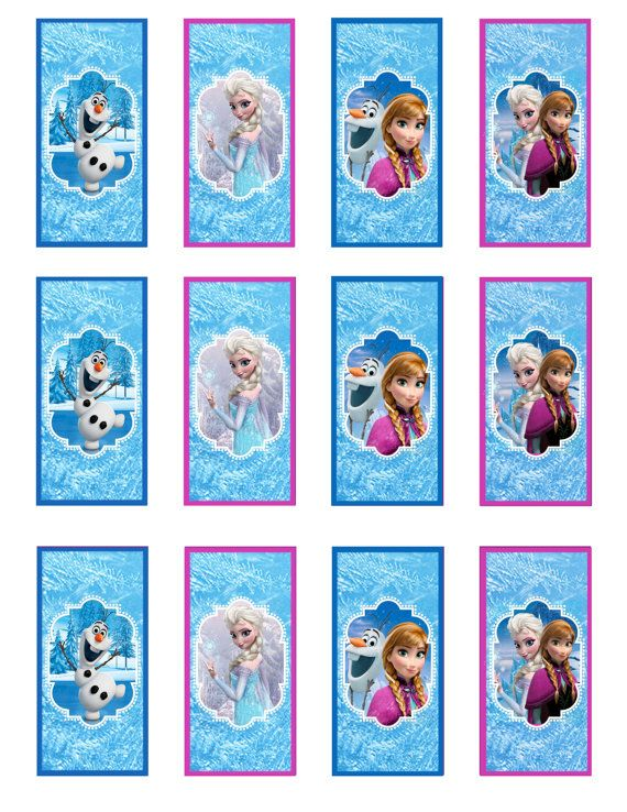 Instant Download!! Frozen birthday Mini Candy Bar Wrappers JPEG 300 dpi Printable Party Elsa Anna Olof, Disney movie winter snowflakes on Etsy, $4.00