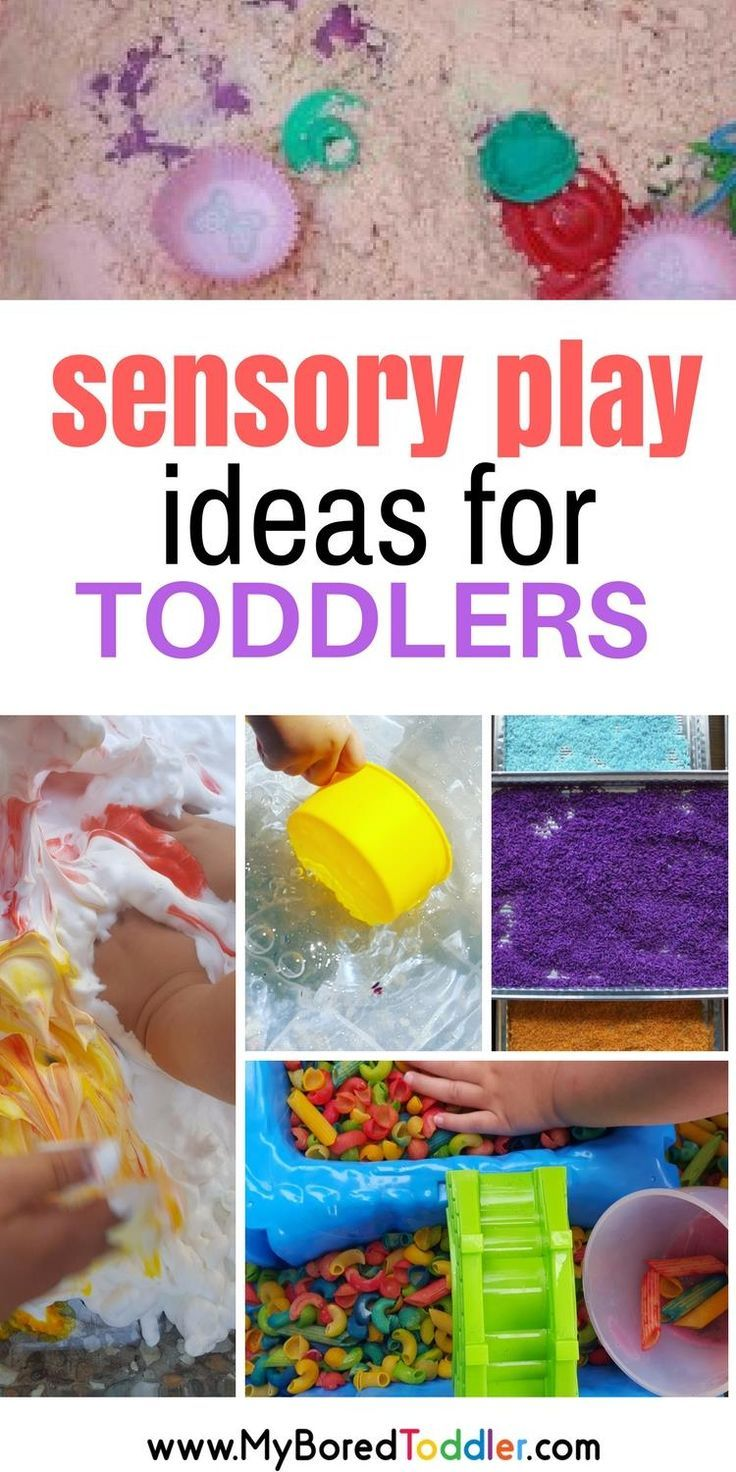 Some great Sensory bins, sensory bottles, sensory bags, water play, messy play. Great sensory toddler play for one year olds, two year olds, three year olds. #sensoryplay #toddleractivity
