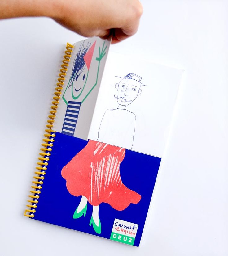want to play exquisite corpses? mix & match drawing! --great idea for summer!