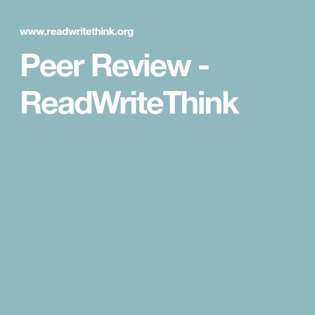 Peer Review - ReadWriteThink