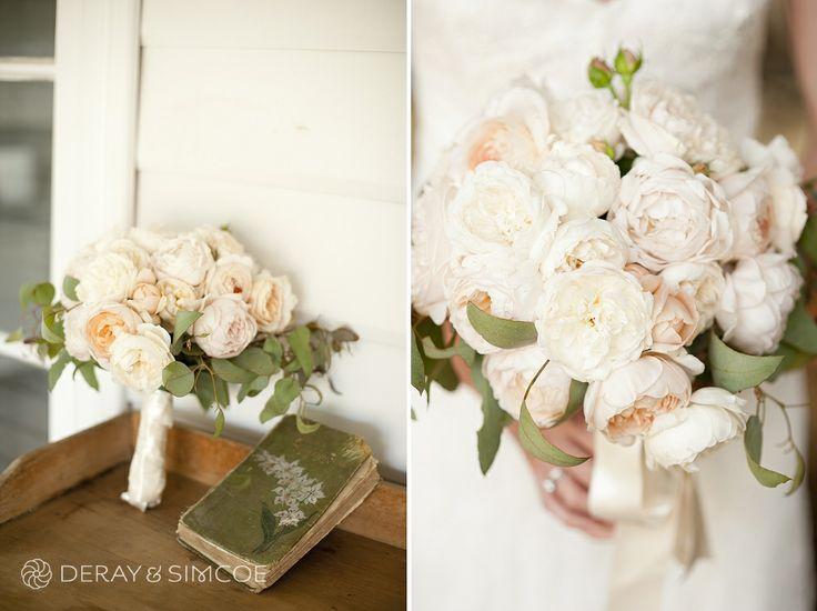 DIY soft pink bride's bouquet. Photography by DeRay & Simcoe