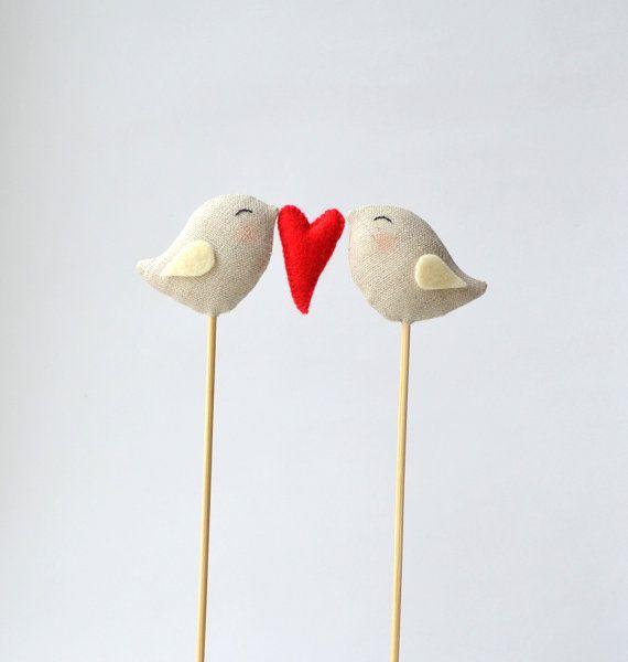 Bird cake topper from Etsy https://www.etsy.com/listing/172119105/full-of-love-birds-wedding-cake-topper