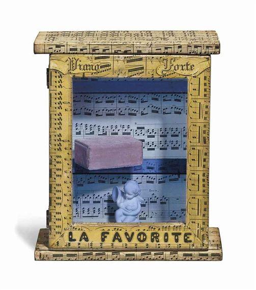 Artwork by Joseph Cornell, La Favorite, Made of wood box construction--wood