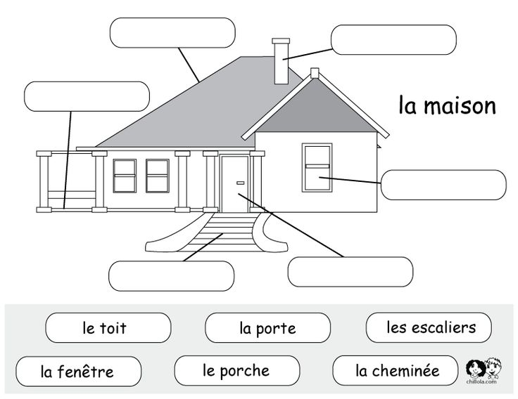 french printable worksheet house : French Worksheets for Children - Franu00e7ais Activitu00e9s u00e0 ...