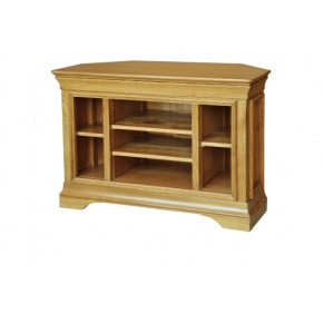 Solid Oak - FRTV1 Lyon Oak Corner TV Video Cabinet   www.easyFurn.co.uk