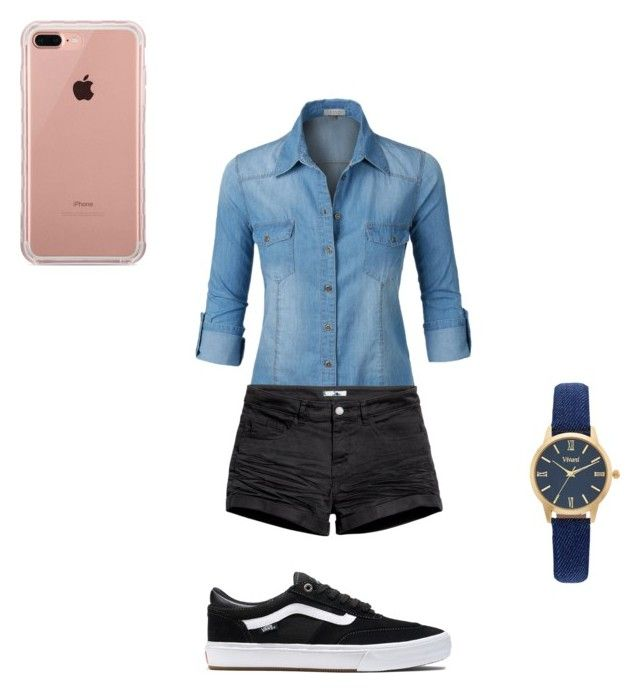 """""""😌🦄"""" by brigike-toth on Polyvore featuring LE3NO, H&M, Vans, Belkin and Vivani"""