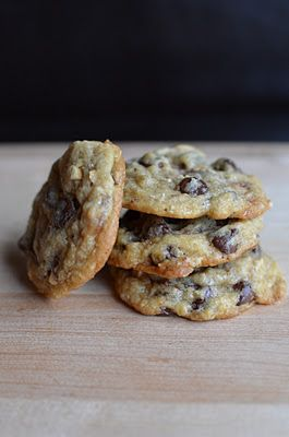 Hazelnut-Toffee Chocolate Chip Cookies  Adapted from Giada De Laurentiis