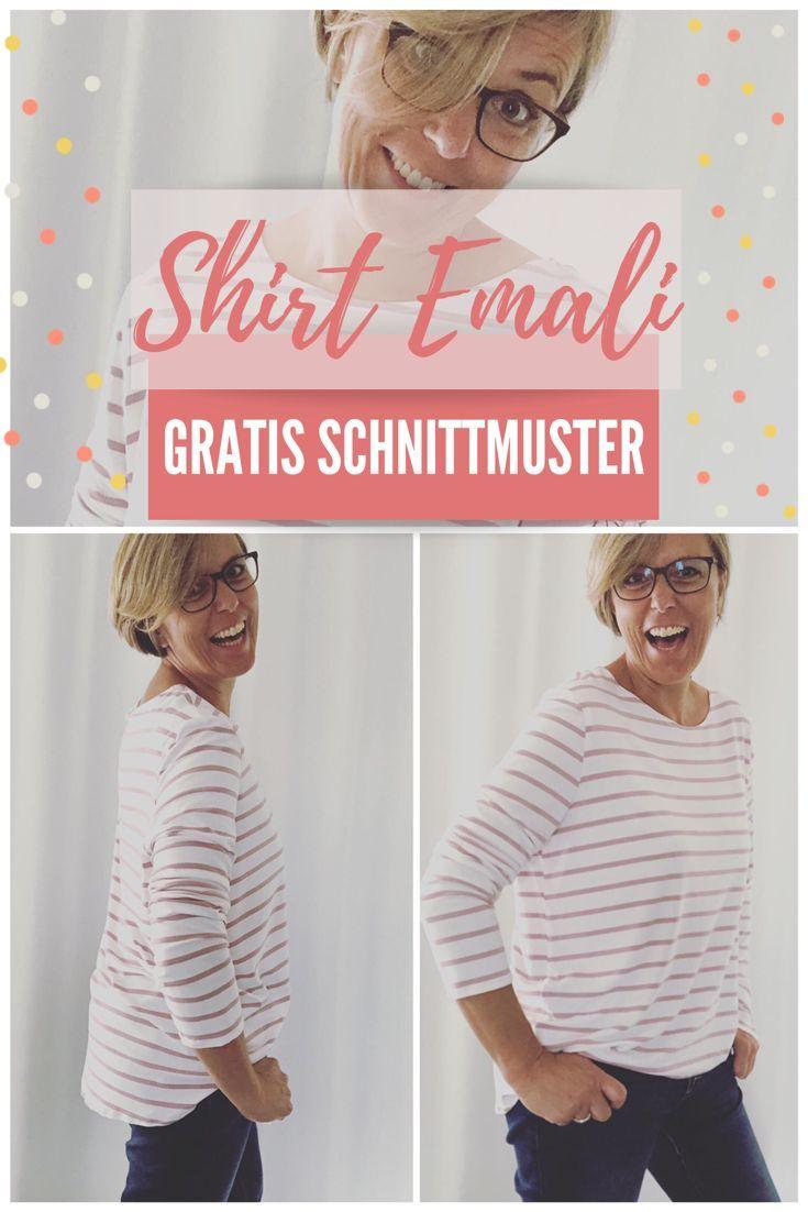 Kostenlose Schnittmuster Oversize Shirt   – Nähen