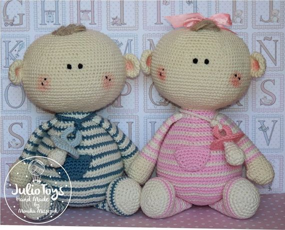 This is a crochet pattern PDF - NOT the actual finished doll at the photos! The pattern is available in ENGLISH (US terminology) Once purchased you´ll receive your pattern as attachment in your Conversation´s section on Etsy in a few hours maximum (depends on time zone) The pattern include tutorial how to do Twins crochet dolls. Material necessary - see the last picture in gallery My patterns are for PERSONAL use only If you should have any problems with the pattern - let me know! Ill ...