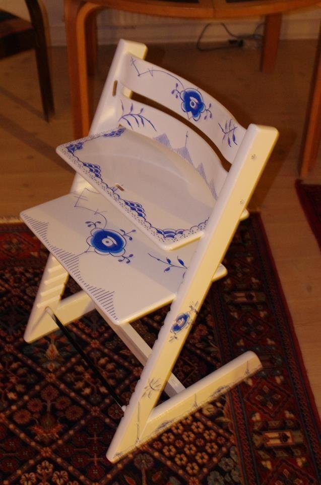 GIGA Mussel på Trip Trap stol - fantastisk idé!!! Sådan må mine godt ende ud, når jeg engang får tid til at male dem!