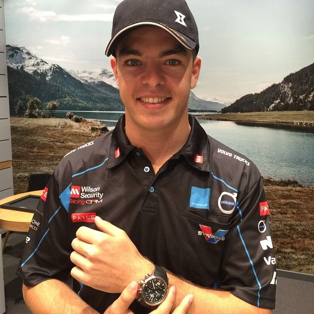 V8 Supercars young gun @smclaughlin93 wearing his Edox Chronorally in store at 8th Avenue Watches @emporiummelbourne #edox #v8supercars #scottmclaughlin #lionbrands #watches #timepieces #style #fashion #mensstyle
