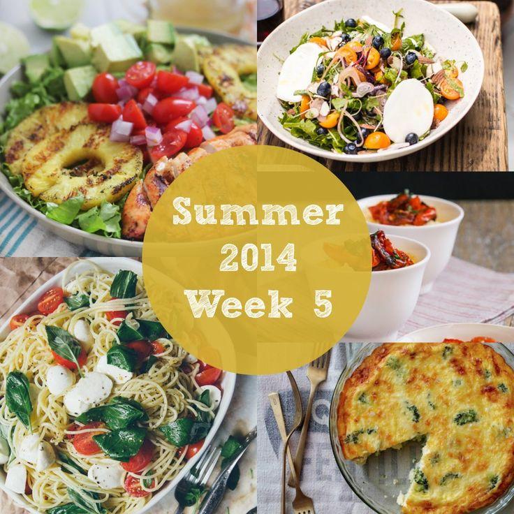 Summer 2014 Week 5 Meal Plan   Rainbow Delicious