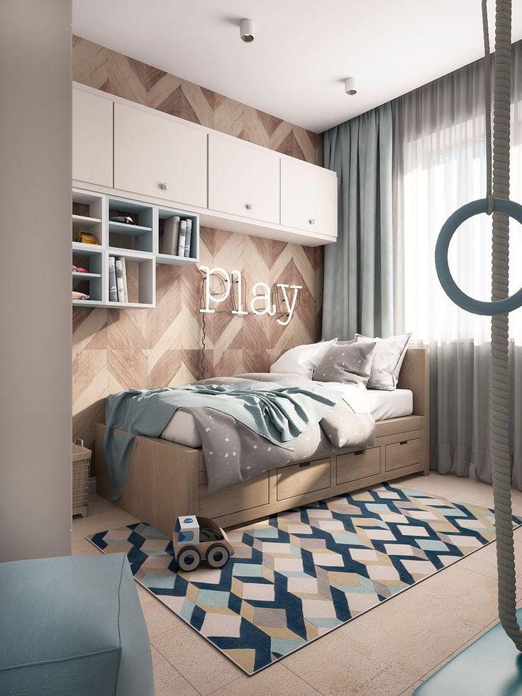 Комната для ребенка. Оформление детской комнаты. Дизайн детской для мальчика.
