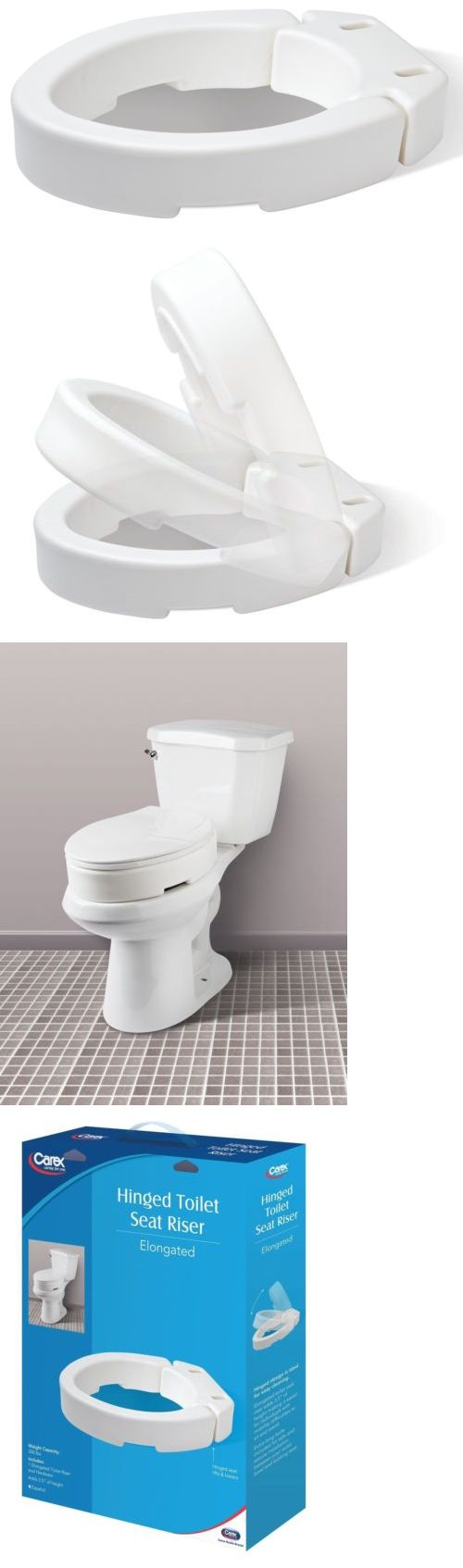 Other Accessibility Fixtures: Carex Health Brands Elongated Hinged Toilet Seat Riser Carex Health Brands -> BUY IT NOW ONLY: $31.69 on eBay!