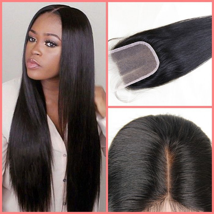 straight virgin hair bundles with lace closure from irhair