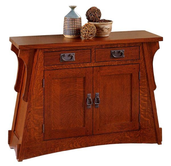 Quarter Sawn Solid Oak Mission Craftsman Buffet Console Sideboard
