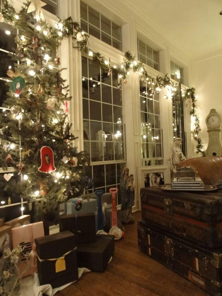 Window Christmas Tree With Lights