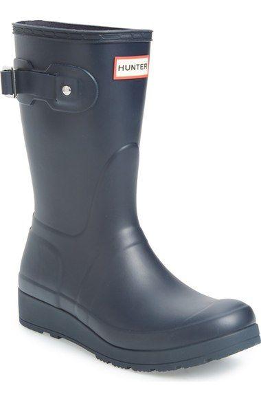 Hunter 'Original Short' Wedge Rain Boot (Women) available at #Nordstrom