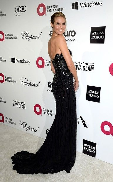#HeidiKlum arrives for the 22nd Annual Elton John AIDS Foundation's Oscar Viewing Party held at West Hollywood Park on March 2, 2014 in West Hollywood, California.
