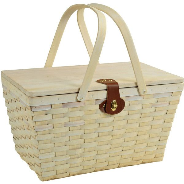 Picnic at Ascot Settler Picnic Basket for Four found on Polyvore