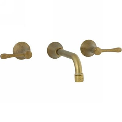 Hello beautiful antique brass wall-mounted faucet...where have you been all of my life?