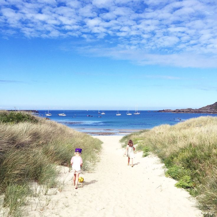Knowing how to focus on your values. Alderney, white sandy beaches.