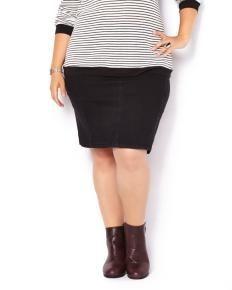 Slightly Curvy Fit Denim Skirt  same: Pennington's