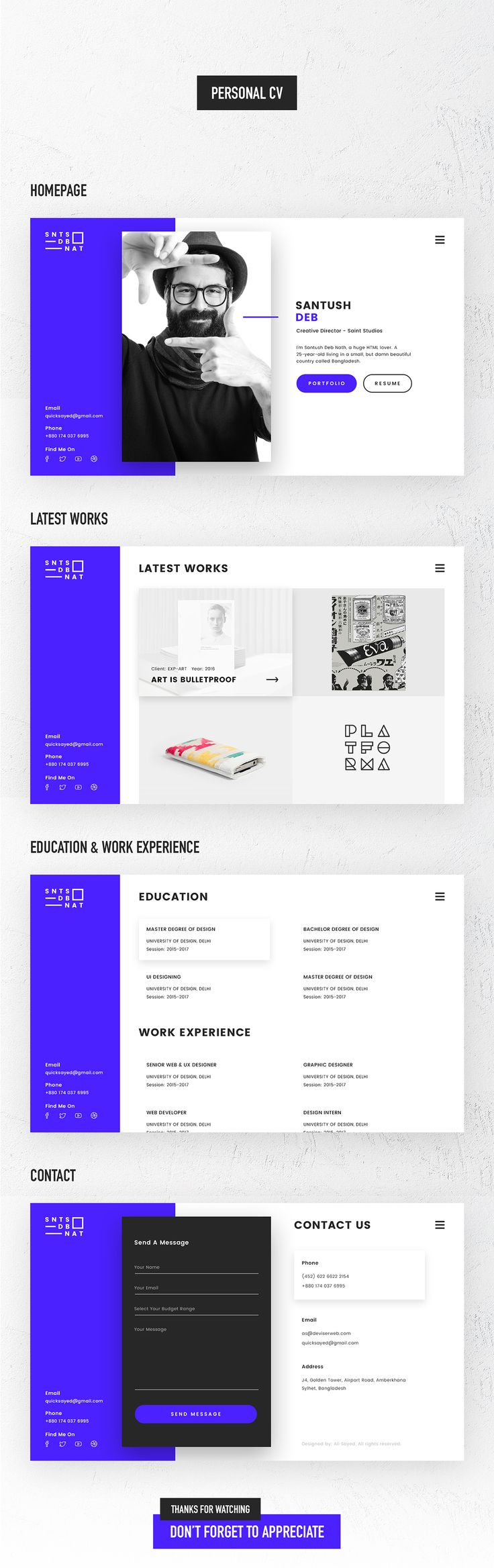 Personal CV or VCard on Behance