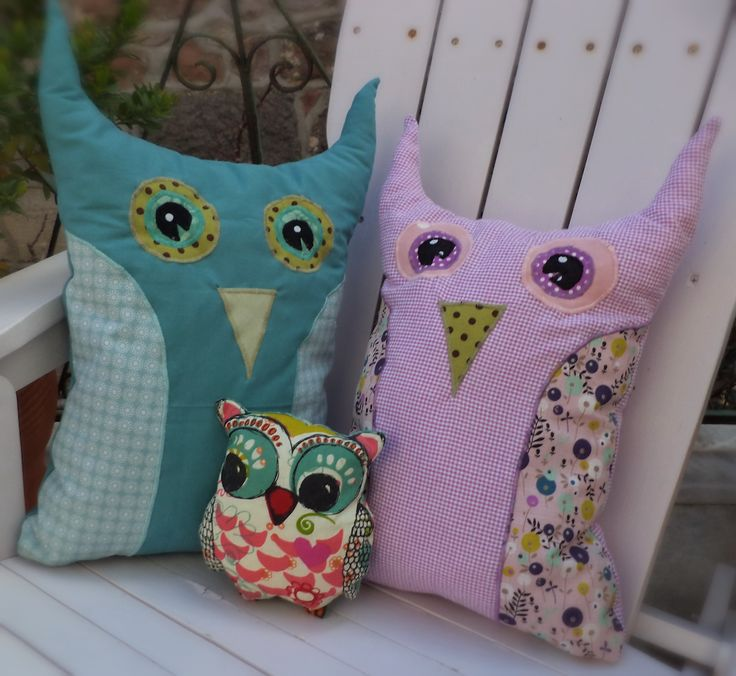 My first owls... for my daughter. Daddy-Owl, Mummy-owl and our little girl <3