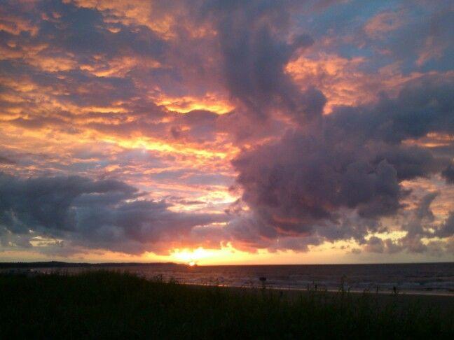 Sun set, Baltic sea