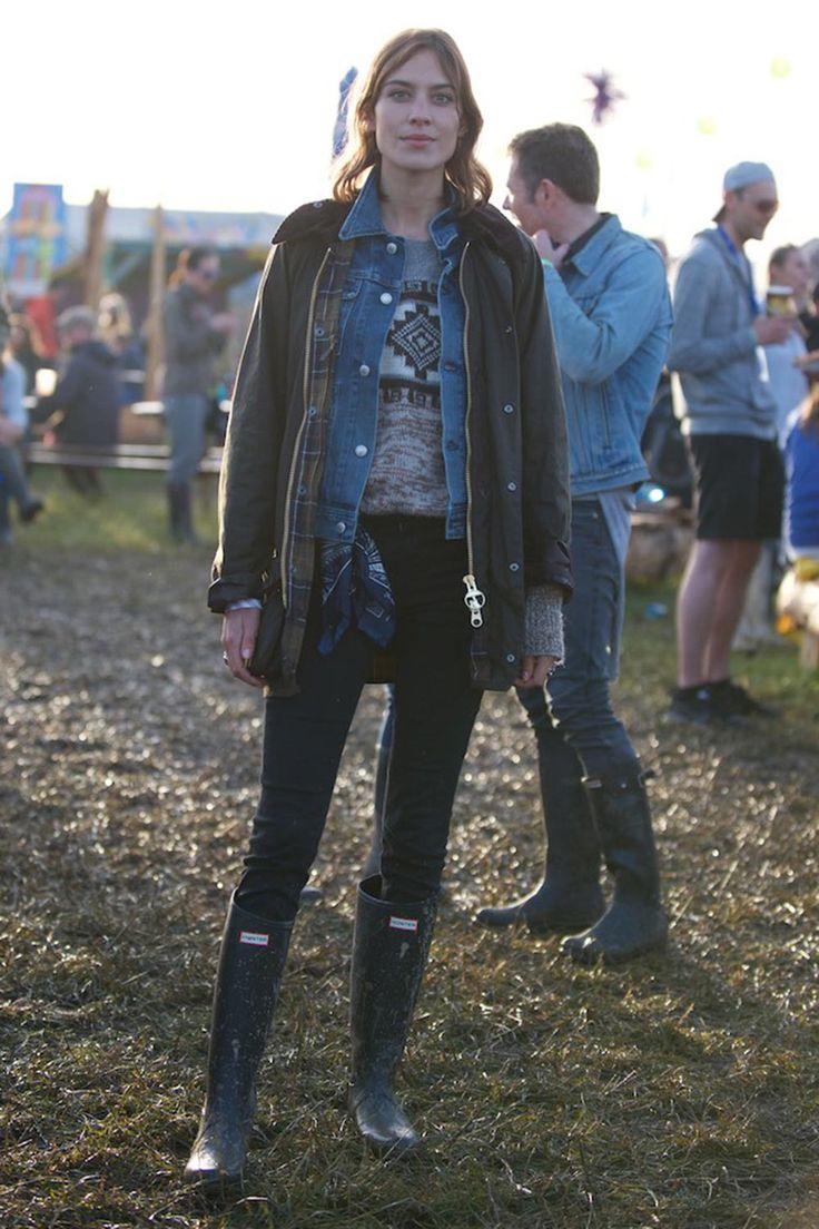 Alexa Chung at Glastonbury 2015