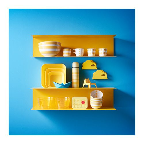 111 best images about kitchen ideas on pinterest blue wall colors kitchen - Etagere murale jaune ...