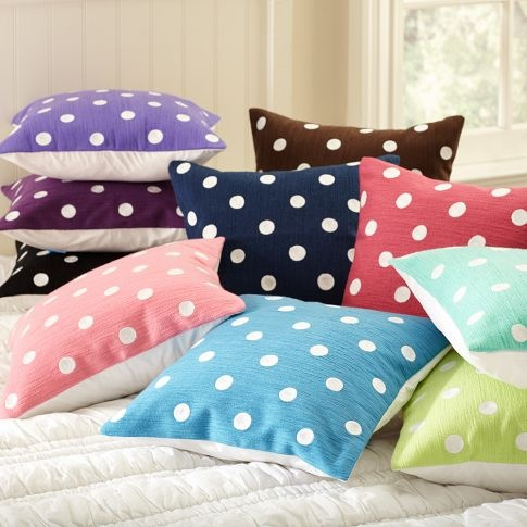 Dottie Toss Organic Pillow Cover  Calissa wants the Dark Purple one! SO CUTE! I love Pottery Barn! #potterybarnkids