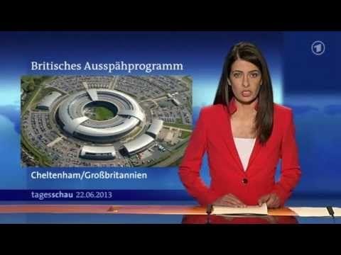 ▶ ARD Tagesschau - #TEMPORA Internetvollüberwachung durch Britischen Geheimdienst #GCHQ - 22.6.2013 - (1:59)