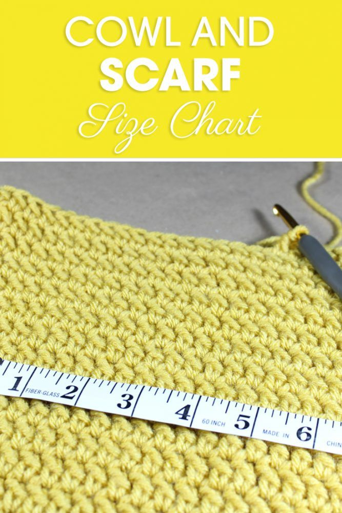 This Cowl And Scarf Size Chart Is A Great Resource To Adjust Patterns And Make Your Own Patterns While M Crochet Hat Sizing Crochet Hat Size Chart Crochet Cowl