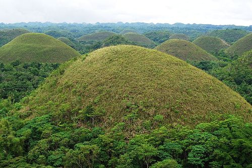 Chocolate Hills of Bohol in Philippines