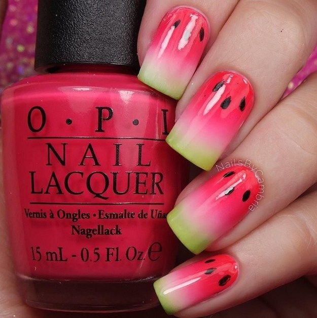 Watermelon Nails | Yummy Fruit Nail Art Designs On Instagram To Drool Over