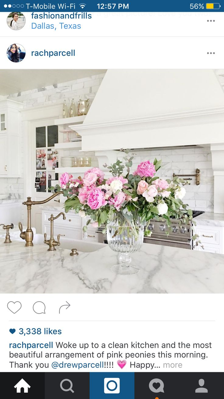 Dallas texas french chateau home photograph 4540 - Kitchen Island With Fresh Flowers Kitchen Island With Fresh Flowers Kitchen Island With Fresh Flowers Rachel Parcell
