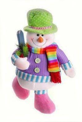 Este muñeco de nieve lucirá fantástico en tu hogar, una hermosa creación de Diana Stevan. Instrucciones Coser a máquina las partes del cuerpo. Poner plantillas en los zapatos. Abrir los orificios en la base del cuerpo para introducir el palo. Introducir el granito en una bolsa en la base del zapato que va en el …