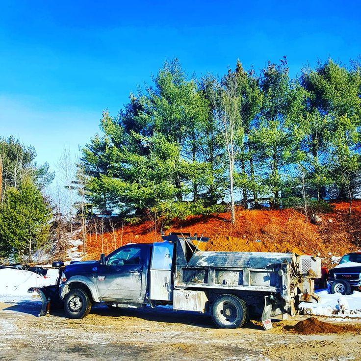 Stella is a bit salty  #dodge #ram #5500 #Cummins #4x4 #dumptruck #landscaping #landscapersofinstagram #heavyduty #workgrind  #landscapeconstruction #construction #bobcat #roadwork #lawn #zeroturn #work #kubota #excavator #ramtruck #excavation #makemoney #dually #diesel #landscaper #hd #truck #4x4truck #offroad #Adirondacks