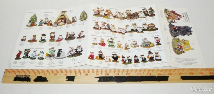 """PAMPHLET PRINT AD PETERSEN 'WEE FOREST FOLK' MOUSE COLLECTION 4""""x8"""" 1991 USED #Weeforestfolk"""
