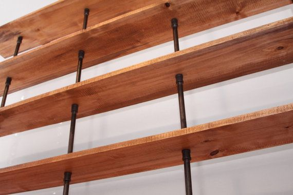 The Hemingway Wall Mount Bookcase Reclaimed Wood by iReclaimed