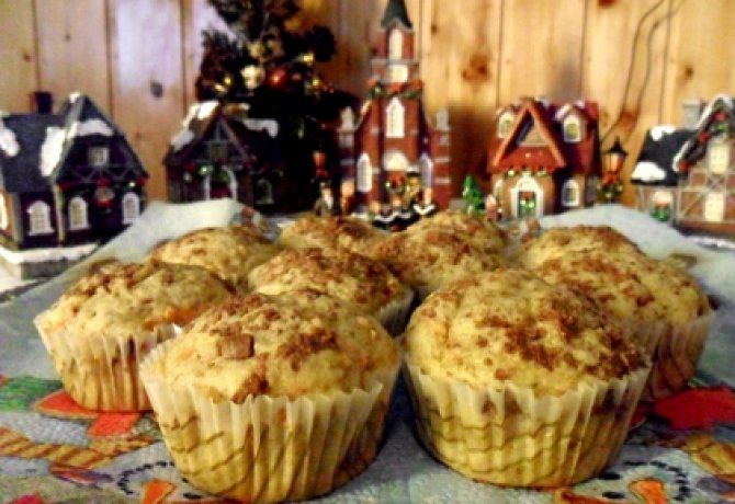 Diós-répás muffin